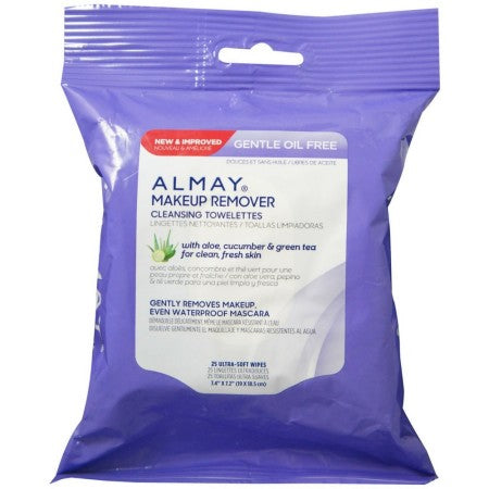 Almay Makeup Remover Cleansing Towelettes, Oil-Free 25 ea (1 Pack)