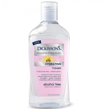Dickinson's Enhanced Witch Hazel Alcohol Free Hydrating Toner 16 oz (1 Pack)