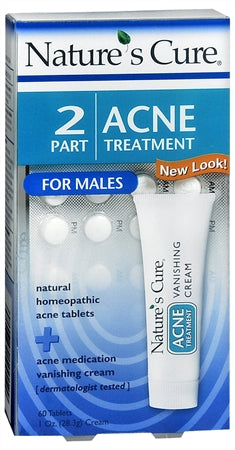 Nature's Cure 2 Part Acne Treatment for Males 1 Each (1 Pack)