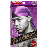 Kiss Red Power Wave Velvet Luxe Durag, Purple 1 ea (1 Pack)