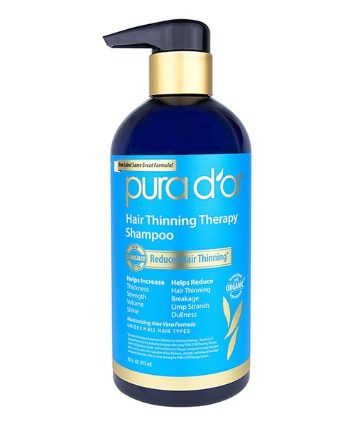 PURA D'OR Hair Thinning Therapy Shampoo, 8 oz (1 Pack)