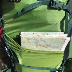Side pockets are perfect for maps...