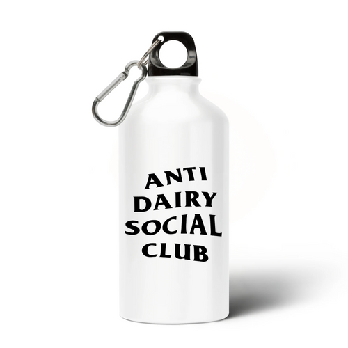 'Anti Dairy Social Club' - Aluminium Water Bottle - Living Thing