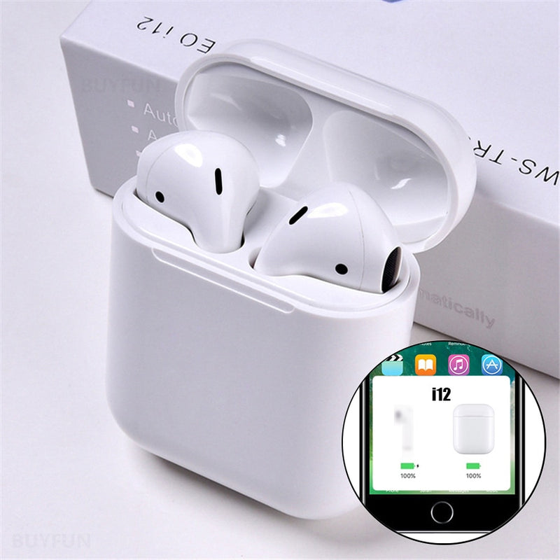 i12 tws Pop Up Bluetooth Earphones Wireless Touch Control Earbuds Headset i12tws not 1:1 replica i30 tws i20 i10 i30tws lk-te9