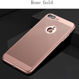 GerTong Heat Dissipation Phone Case For iPhone X 10 8 7 6 6s Plus 5 5s SE Cover Cool Matte Hard PC Cases For iPhone XS MAX XR
