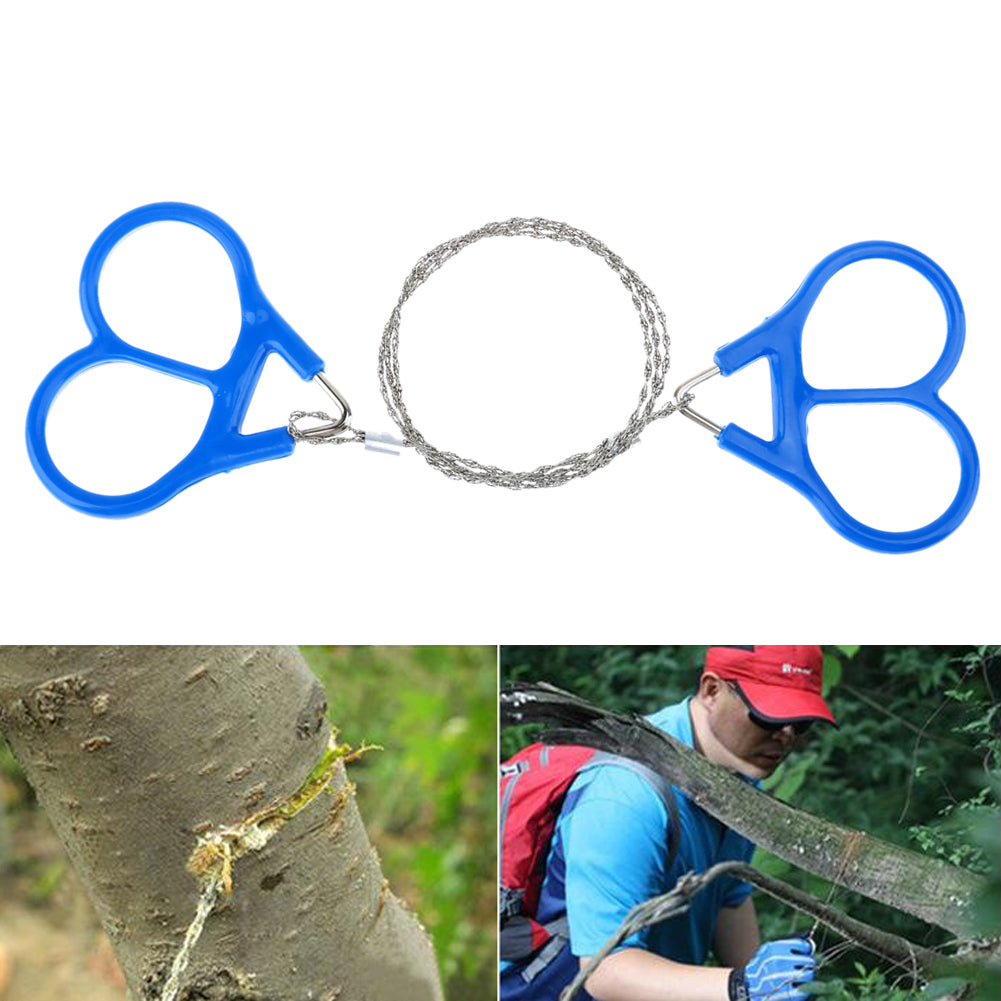 1PCS Stainless Steel Wire Saw Camping Saws Practical Emergency Survival Gear Steel Wire Kits Outdoor Tools with Finger Handle