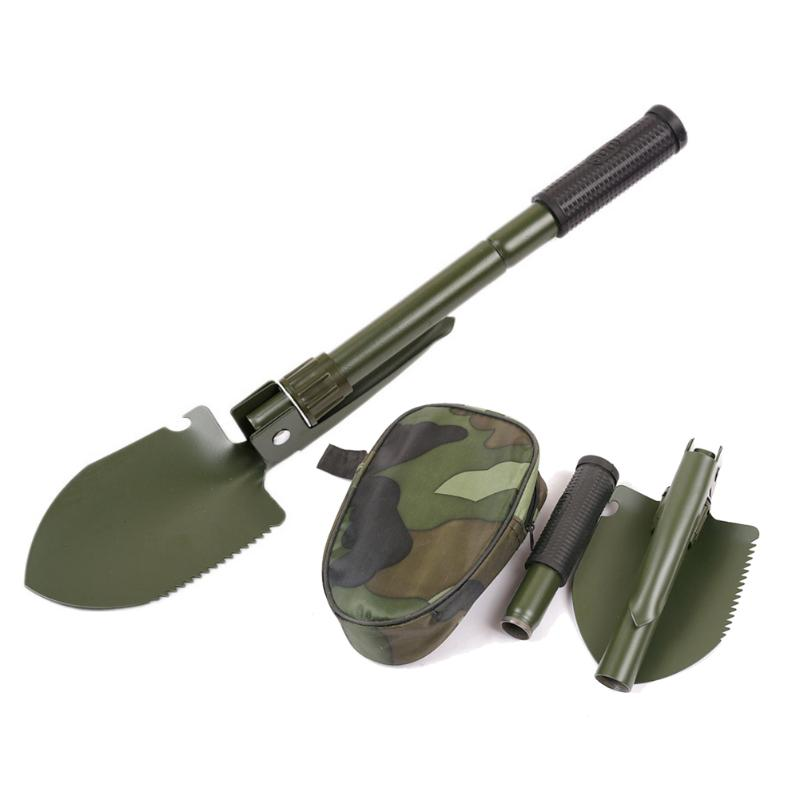 NEW Multi-function Military Portable Folding Camping Shovel Survival Spade Trowel Dibble Pick Emergency Garden Outdoor Tools