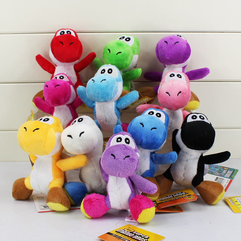 10cm Super Mario Bros Yoshi Stuffed Plush Toys With Keychain Pendant for Children