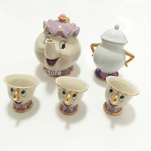 Beauty And The Beast Mrs Potts Teapot and Chip Tea Cup 2PCS One Set