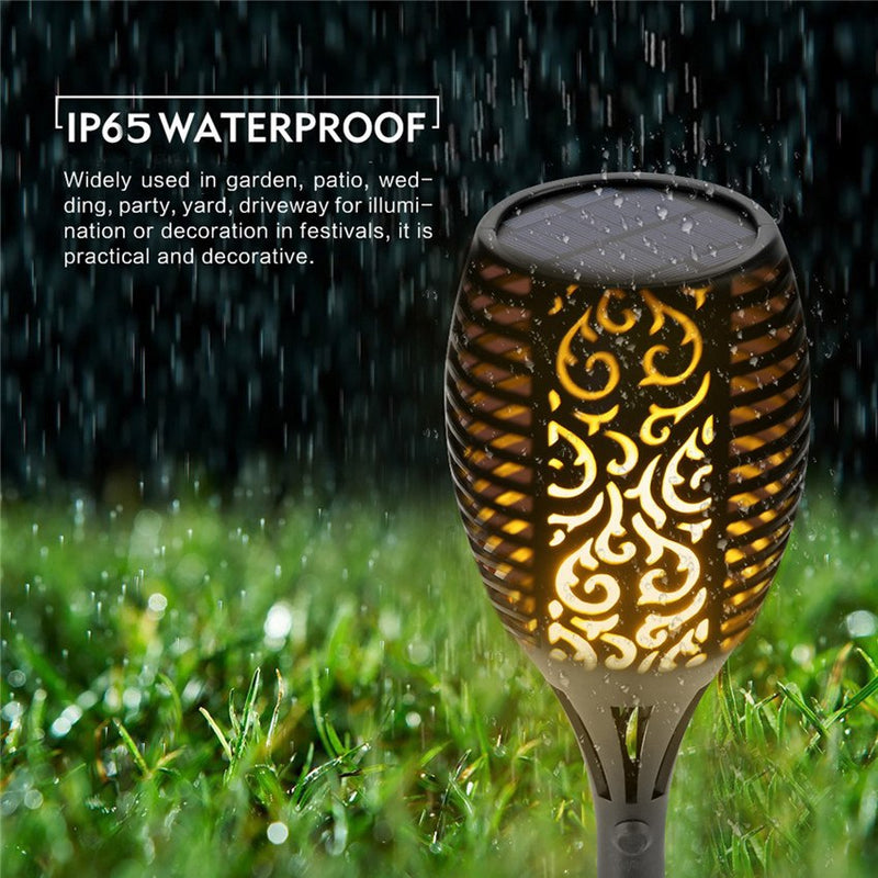 Solar Flame Flickering Garden LED Light IP65 Outdoor Solar Tiki Torch Spotlights Landscape Decoration Lamp For Garden Decor