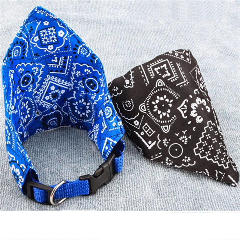 S/M/L Adjustable Pet Neck Scarf Bandana Collar
