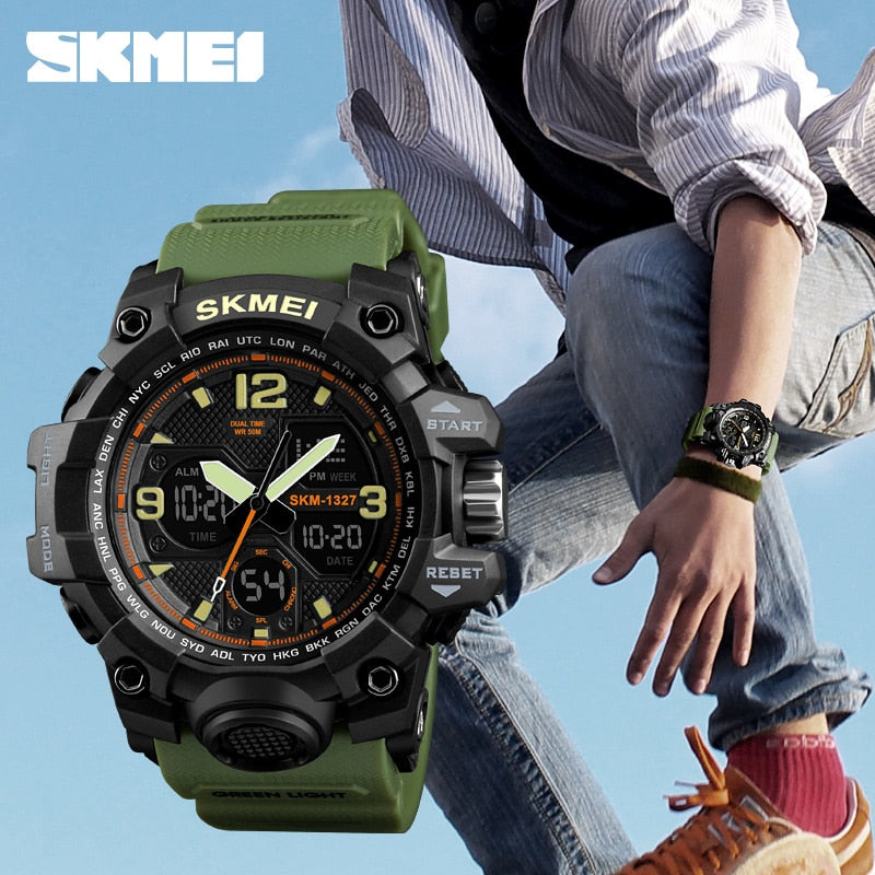 Digital-Watch Mens Sports Watches Army Military Wristwatch G Style Erkek Saat Shock Resist Clock Quartz Watch relogio masculino