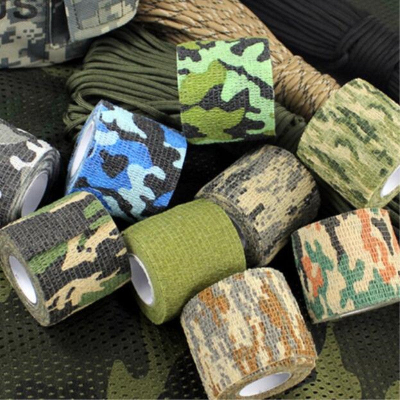 5cmx4.5m Camping Camo Outdoor Hunting Shooting Tool Camouflage Stealth Tape Waterproof Wrap Durable Army