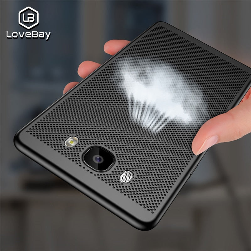 Lovebay Phone Case For Samsung Galaxy S6 S7 Edge S8 S9 Plus S10e S10 Plus Fashion Hollow Heat Dissipation Hard PC Phone Case