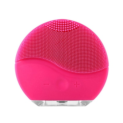 Mini Electric Facial Cleansing Brush Silicone Sonic Vibration Cleaner Deep Pore Cleaning Skin Massage face brush cleansing
