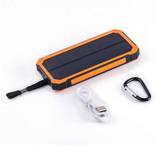 Portable Solar Power Bank 20000mah Waterproof External Battery Backup Powerbank 20000 mah Phone Battery Charger LED Pover Bank