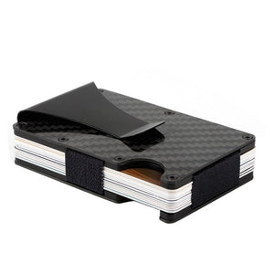 Casual Fashion 2019 Men Women Money Cards Carbon Fiber Clip Ultra-Thin Metal Clip Can Accommodate Multiple Debit and Credit