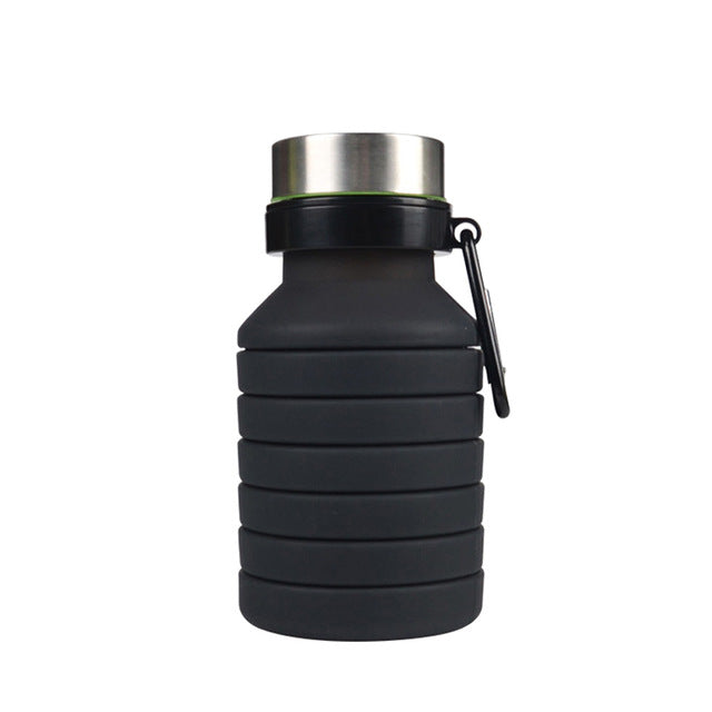 550ML Silicone Foldable Coffee Cup Drinking Bottle Outdoor Travel Collapsible Cup 2019ing