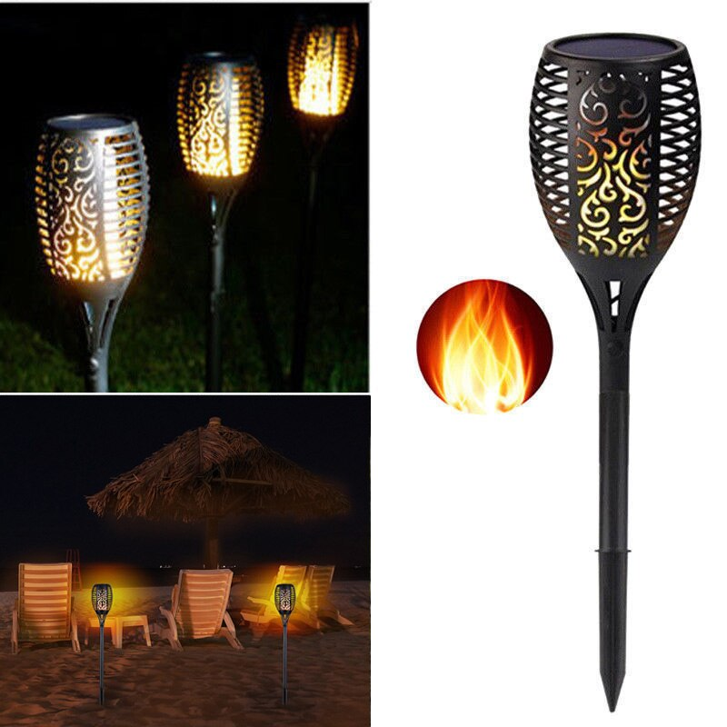 Waterproof IP65 Solar Tiki Torch Light Dancing Flickering Garden Lamp Torch Light Flame Lamp Outdoor Led Lamp Garden Path