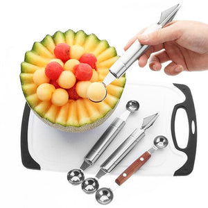 ACTION FIGURETOYWatermelon Slicer Cutter Tongs Corer Fruit Melon Stainless Steel Tools NEW Watermelon Cut Refreshing Watermelon