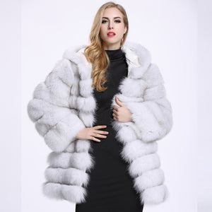 Hooded Thick Warm Fluffy Faux Fur Jacket - primechick