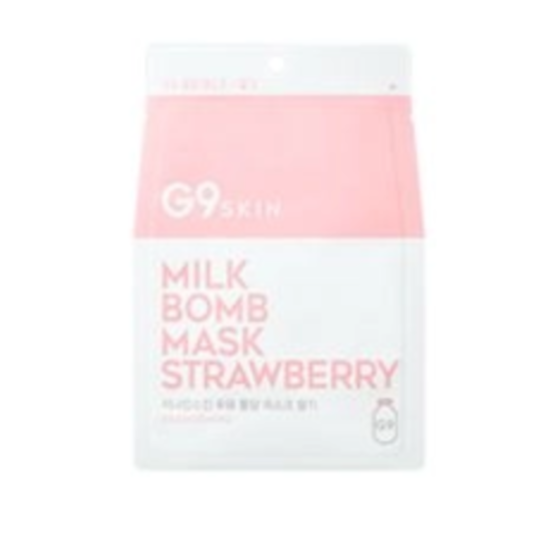 [G9] Milk Bomb Mask - Strawberry