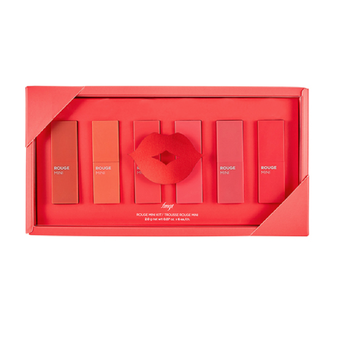 [THE FACE SHOP] Rouge Mini Kit - All About Coral #02