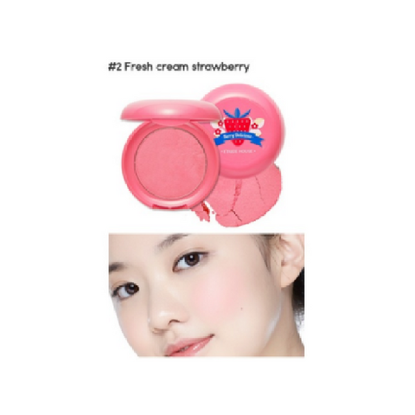 [Etude House] Berry Delicious Cream Blusher - Strawberry With Whipped Cream #2