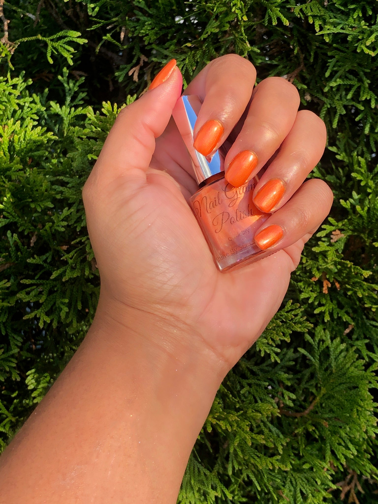 Orange Pop Nail Glam Polish
