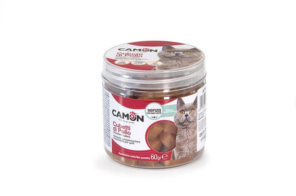 Camon Snack Cat Cubetti Di Pollo 60gr