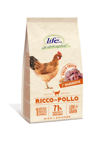 Life Cat Adult Ricco in Pollo 1,5Kg