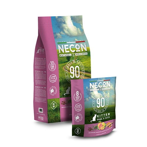 Necon Cat NW Kitten Maiale e Riso 400gr