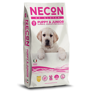 Necon No Gluten Puppy e Junior Maiale Riso 3Kg