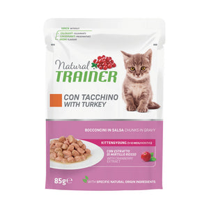 Natural Trainer Kitten Tacchino in Salsa 85gr