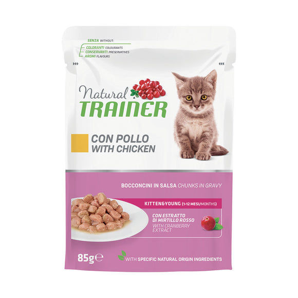 Natural Trainer Kitten Pollo in Salsa 85gr