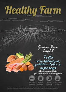 Healthy Farm Grain Free Light con Salmone, Patate Dolci e Asparagi 2Kg
