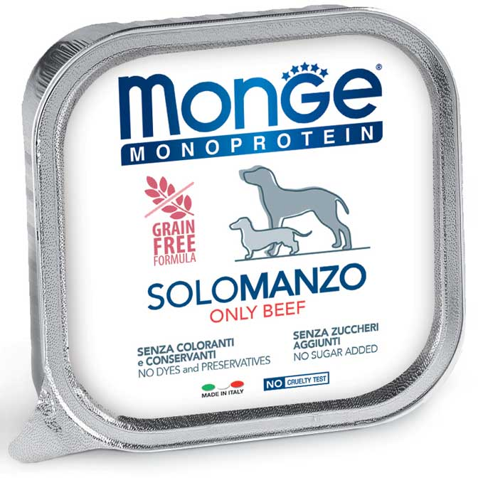 Monge Adult Monoprotein Solo Manzo 150gr