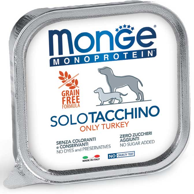 Monge Adult Monoprotein Solo Tacchino 150gr