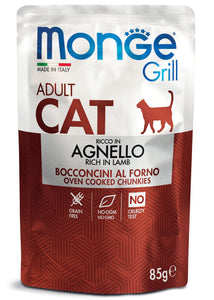 Monge Cat Grill Adult Ricco in Agnello 85gr
