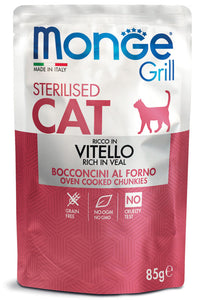 Monge Cat Grill Sterilised Ricco in Vitello 85gr