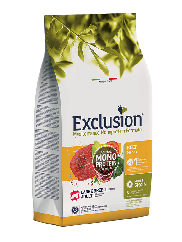 Exclusion Monoprotein Large Beef 12Kg