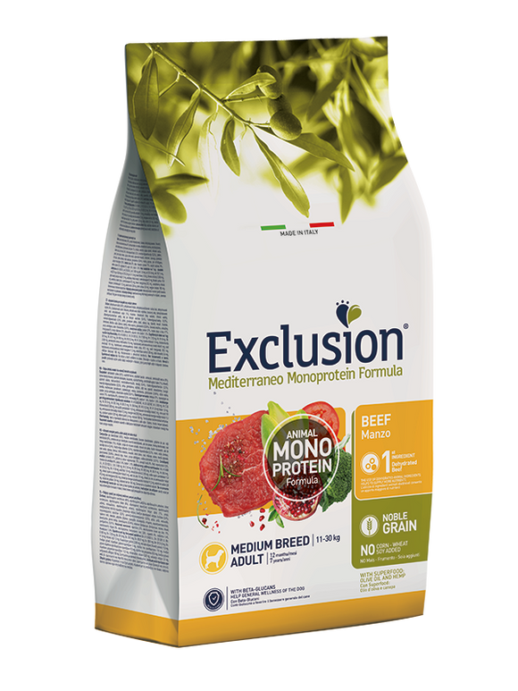 Exclusion Monoprotein Medium Beef 12Kg