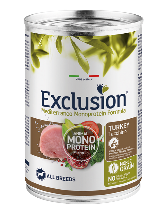 Exclusion MonoProtein Tacchino 400gr