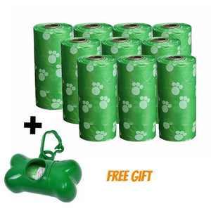 Dog  Poop Bags 10 Rolls 100% Biodegradable +  Free Dispenser