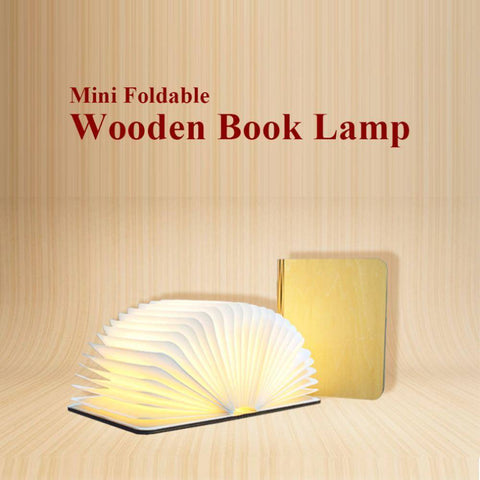 Image of Folding Wooden Book Lamp