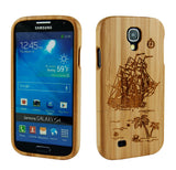 eimolife SamSung Galaxy S4 IV Natural Handmade Wood Bamboo Case Protective Cover (plain sailing)
