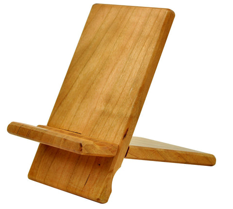 eimolife Natural wood Bamboo hard Panel stand for iPhone, iPad, SamSung mobile phone, Tablet PCs, e-Readers, kindle, etc. (cherry)