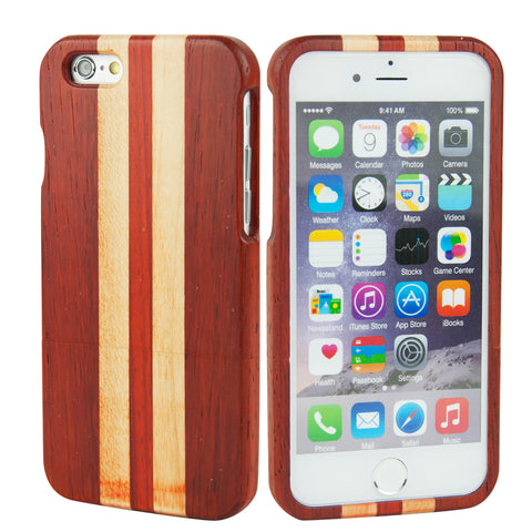 eimolife iPhone 6 4.7-inch Unique Handmade Natural Wood Bamboo Case Protective Cover (rosewood & maple)