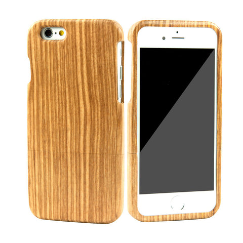 eimolife iPhone 6 4.7-inch Unique Handmade Natural Wood Bamboo Case Protective Cover (zebrawood)