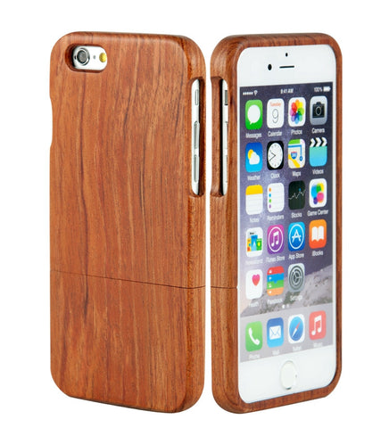 "eimolife iPhone 6 Plus Unique Handmade Natural Wood Bamboo Case Protective Cover 5.5"" (palisander)"